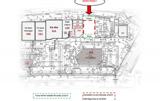Deon Square Shopping Center phase one demolition site plan